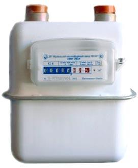 Мембранный счётчик газа Визар